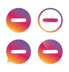 Minus sign icon Negative symbol vector image