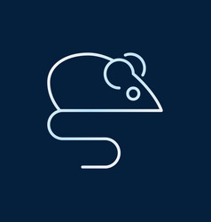 Mouse animal colored outline icon or design vector