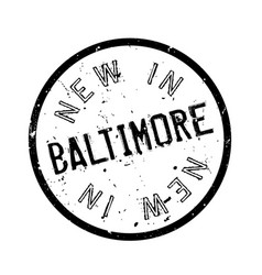 New in baltimore rubber stamp vector