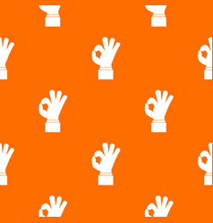 ok gesture pattern seamless vector image