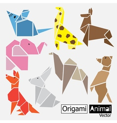 Origami animal design vector