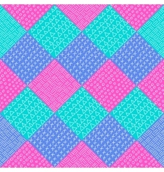 Patchwork pattern Fashion fabric print vector