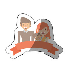 people family members lovely vector image