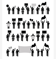 Protest - pictograph collection vector