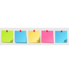 realistic blank sticky notes isolated on white vector image
