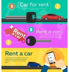 Rental car banners vector
