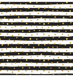 Seamless pattern of random gold dots vector