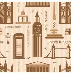Seamless pattern with landmarks of United Kingdom vector image