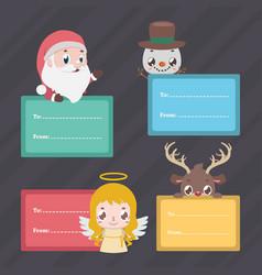 Set of christmas present tags vector