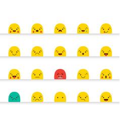 set of emoticons stickers emoji vector image