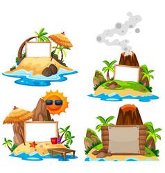 set on island banner vector image
