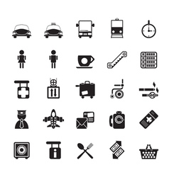 Silhouette travel and transportation icon vector image
