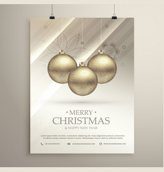 silver background for merry christmas festival vector image