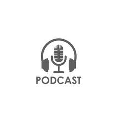 simple mic microphone headphones waveform sound vector image