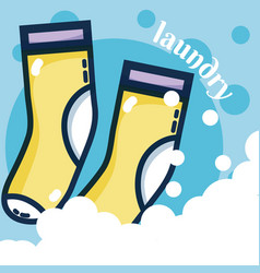 Socks laundry concept vector