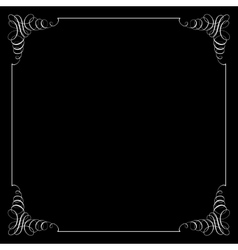Square frame in calligraphic retro style vector