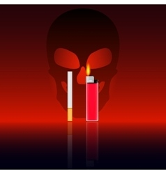 The harm of smoking vector