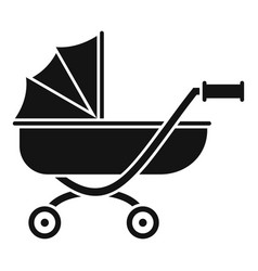 toy baby pram icon simple style vector image