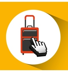 traveling concept technology suitcase design vector image