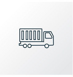 truck icon line symbol premium quality isolated vector image