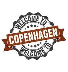 copenhagen round ribbon seal vector image vector image