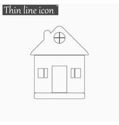 Home icon Style thin line vector image vector image