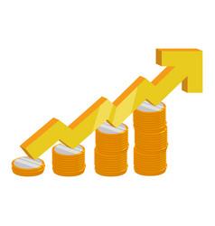 increasing stats symbol vector image