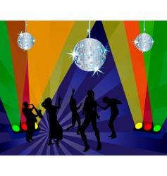 nightclub dancers vector image vector image