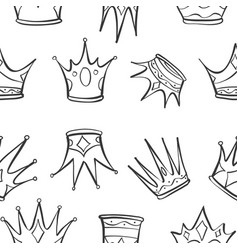 pattern crown art vector image vector image