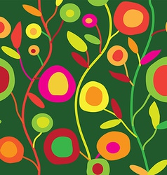 Seamless floral pattern in simple decorative style vector image