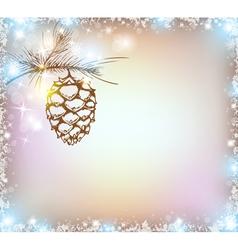 Shining christmas background vector