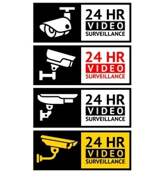 Video surveillance stickers set vector image