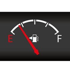 gas gage status vector image vector image