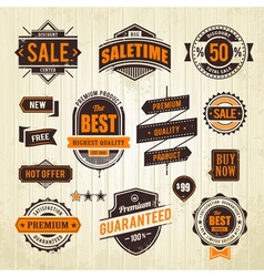 Grunge sale emblems vector image vector image
