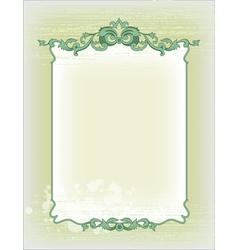 imperial frame grunge background vector image