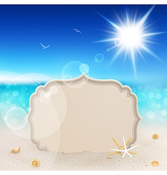 seascape and tablet vector image