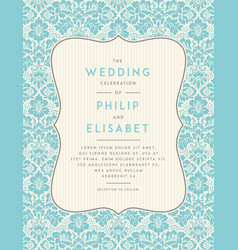 vintage wedding invitation template vector image