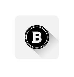bitcoin icon modern web money digital currency vector image vector image