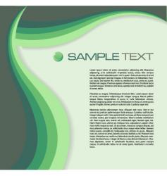 brochure green vector image vector image