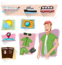 Travel info graphics vector image