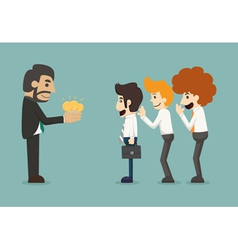 Businessman share idea vector image vector image