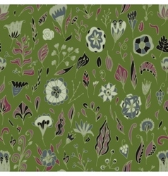 floral seamless pattern with abstract vector image vector image