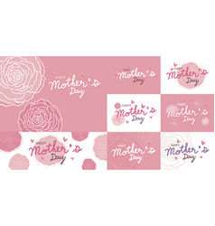 happy mothers day design and pink carnation vector image vector image