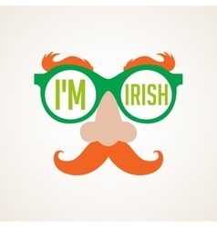 hipster Irish man for St Patricks day vector image