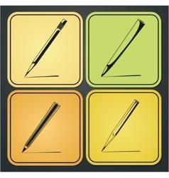 icons pencils vector image vector image