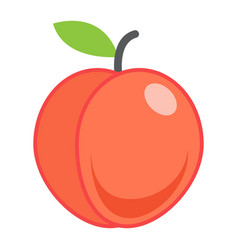 peach flat icon fruit and diet graphic vector image