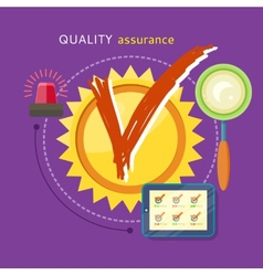 Quality Assured Concept vector image