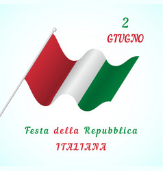 republic day in italy vector image vector image