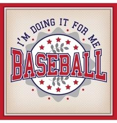 Retro Baseball Badge vector image vector image