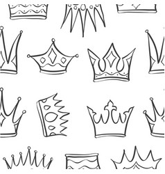sketch crown of pattern style vector image vector image